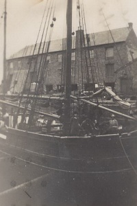 14. Ceres in dry-dock - visitors aboard