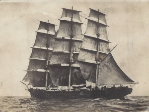 'Cutty Sark', the fastest clipper ship afloat, (postcard signed by W W Petherick)