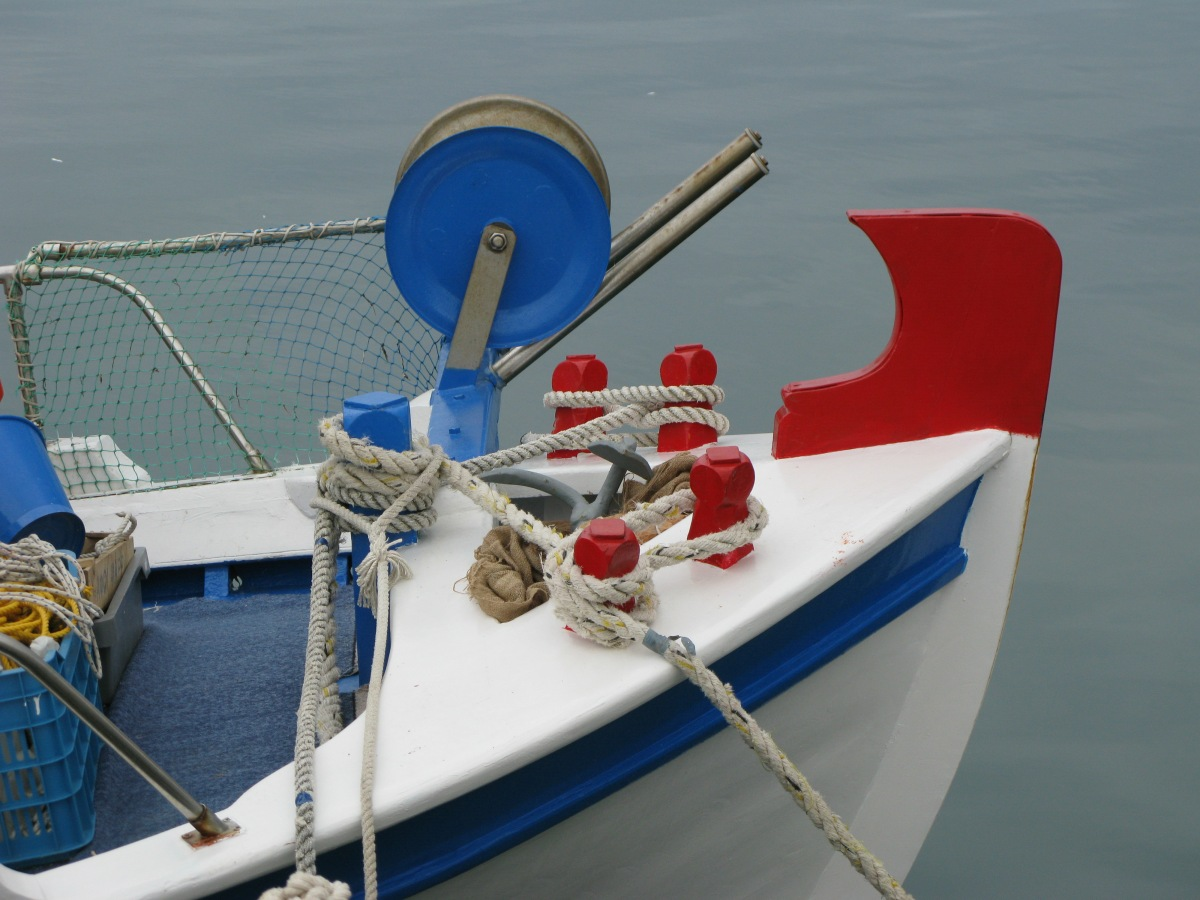 Greek fishing craft: detail . . .