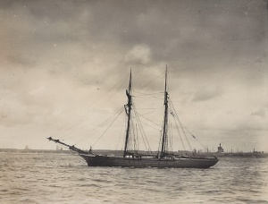 'Queen of the West' of Milford, built 1849 by Vivien at Salcombe, about 105 tons registered, this vessel draws 13 feet aft when fully loaded