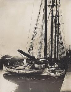 'Salisbury' of Rauma, discharging timber at Garston