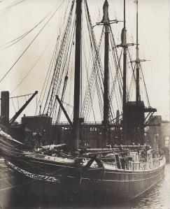 'Salisbury' of Rauma, Finnish schooner, 579 tons gross, built 1903 by Kelly Spear and Co. at Bath, USA