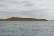 The cliffs beyond West Bay